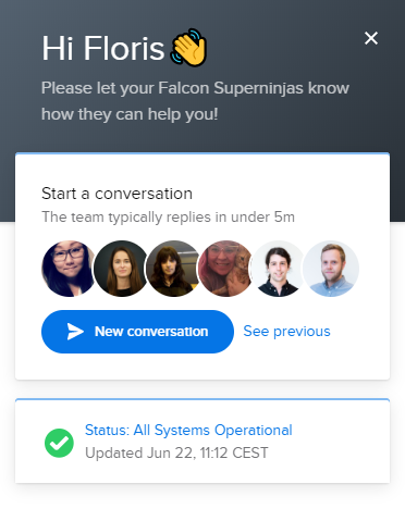 How to reach the Falcon Support team – Falcon